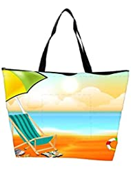 Snoogg Abstract Summer Background Waterproof Bag Made Of High Strength Nylon - B01I1KL3OW