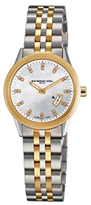 Raymond Weil Women's 5670-STP-97091 Freelancer White Mother-Of-Pearl Dial Watch