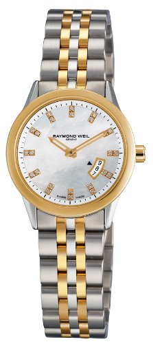 Raymond Weil Women's Quartz Watch with Mother of Pearl Dial Analogue Display and Multicolour Stainless Steel Plated Bracelet 5670-STP-97091