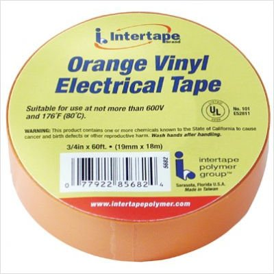 "Ipg 5682 Vinyl Medium Grade Electrical Tape, 60' Length X 3/4"" Width, Orange"