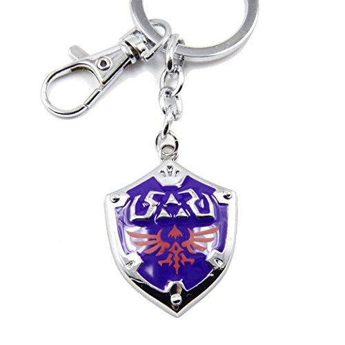 Generic Zelda Twilight Princess Hylian Shield Keychain Blue