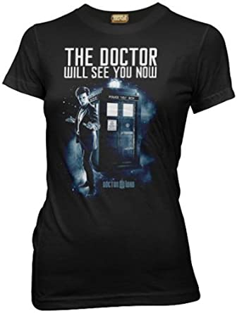 Doctor Who the Doctor Will See You Now Juniors Tee (Small)