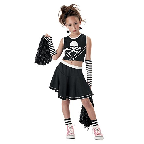 Totally Ghoul Punk Cheerleader Costume,girls Size X-large, for Ages 8-14