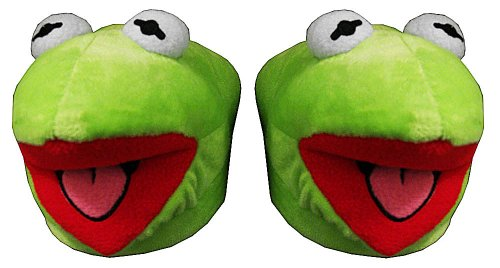 Cheap Kermit The Frog The Muppets Face Jim Henson Adult Plush Mens Slippers (ECMP7017)