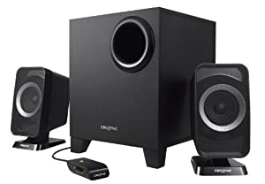 Creative T3150 Wireless (2.1) Bluetooth Speaker System with Subwoofer and Wired Remote Control