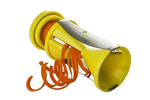 Home and Garden Elements Handheld Spiral Vegetable Slicer - Zucchini Noodle Pasta Maker