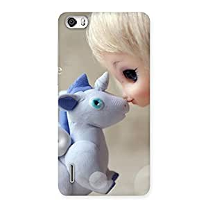 Delighted Lovely Cute Baby Girl Multicolor Back Case Cover for Honor 6