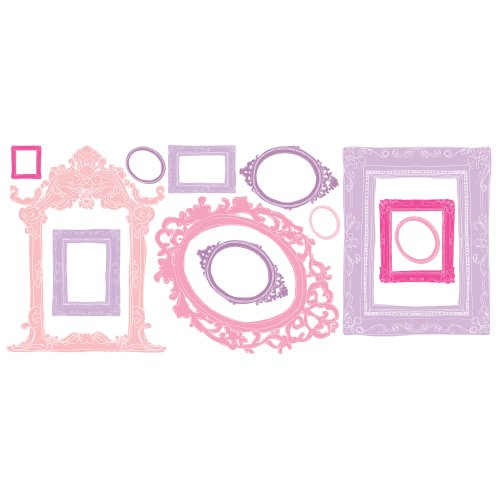 Roommates Rmk2043Gm Pink And Purple Frames Peel And Stick Giant Wall Decals front-66135