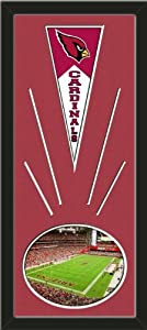 Arizona Cardinals Wool Felt Mini Pennant & University Of Phoenix Stadium Photo -... by Art and More, Davenport, IA