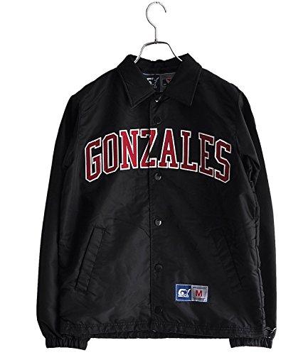 (マークゴンザレス) MARK GONZALES ロゴ ナイロン コーチジャケット (M, ブラック)