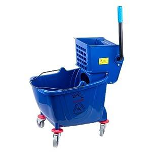 Lavex Blue 36 Quart Mop Bucket & Wringer Combo
