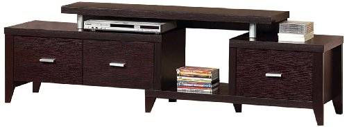 416IfGr41OL Enitial Lab Charleston Extendable Tv Cabinet with 3 Drawers, Cappuccino