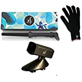 Herstyler Grande 18-25mm Curling Iron With Free Black Tool Holder And Heat-Protective Glove (Black)