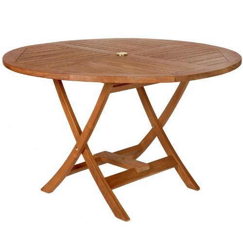 Teak Round Picnic Table - Round Patio Table - Patio and Garden Furniture