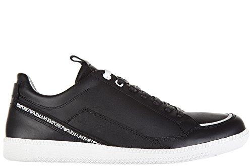 Emporio Armani scarpe sneakers uomo in pelle nuove nero EU 41 X4X157 XG200 F012