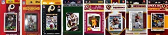 NFL Washington Redskins 8 Different Licensed Trading Card Team Sets by C&I Collectables