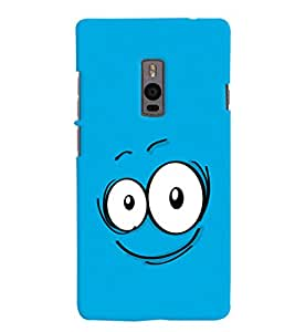 ColourCrust OnePlus 2 Mobile Phone Back Cover With Smiley Expression Style - Durable Matte Finish Hard Plastic Slim Case