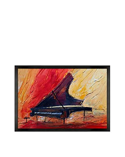 Justyna Kopania Piano II Framed Canvas Print