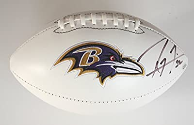 Ray Lewis Baltimore Ravens Signed Autographed White Panel Football PAAS COA
