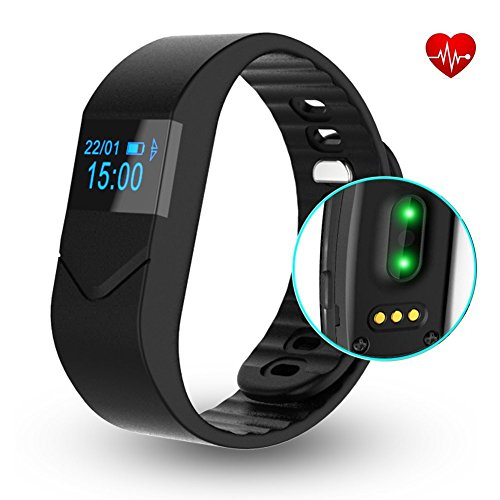 Fitness Tracker,DRILLPRO Heart Rate Monitor E5S Activity Watch Step Walking Sleep Counter - Wireless Wristband Pedometer Exercise Tracking Sweatproof Sports Bracelet for Android and iOS