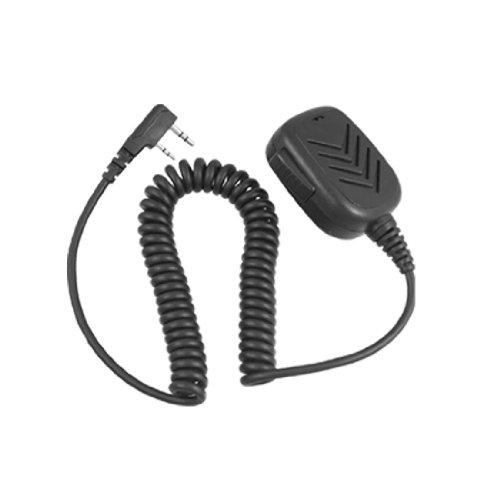 Black 2 Pin Plug Speaker Microphone For Kenwood Tk3107