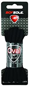 Sof Sole Athletic Oval Shoe Lace (Black, 36-Inch)