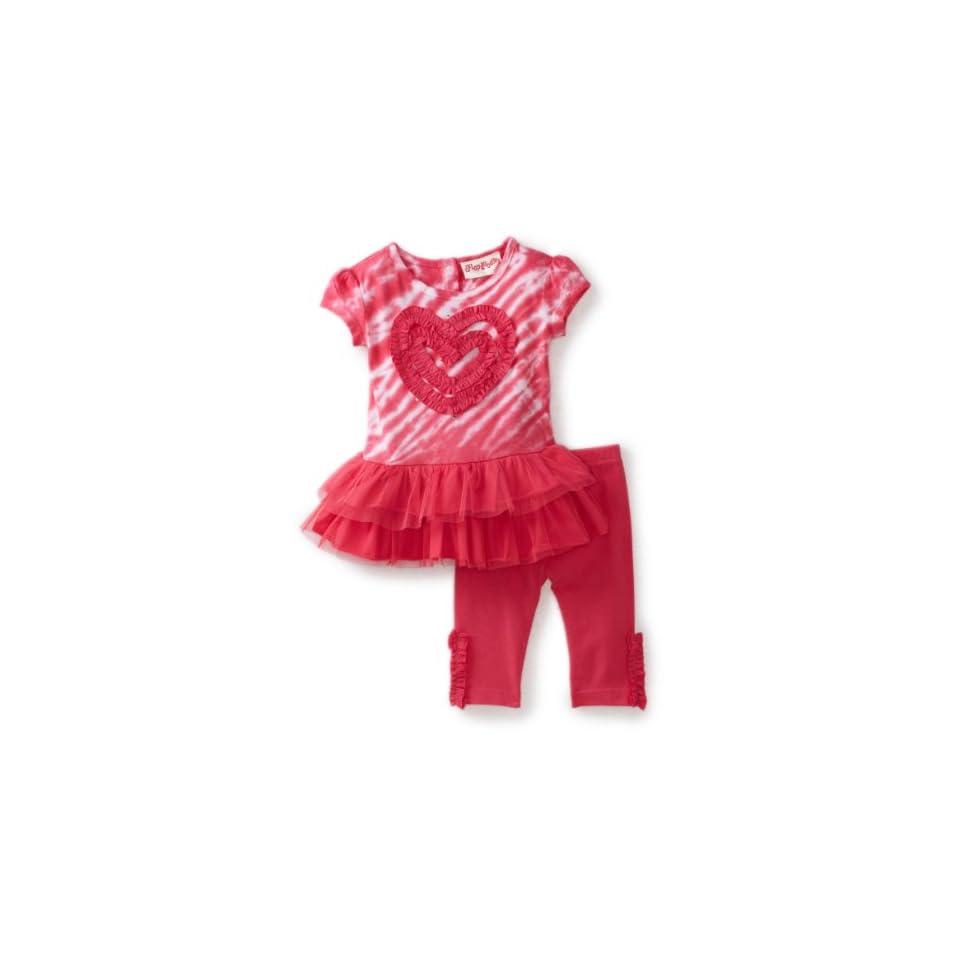Flapdoodles Baby Girls Tie Dye Tunic Set, Pink Tie Dye, 12 Months