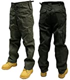 Adults Plain Combat Trousers color - Olive,size -W36/L32
