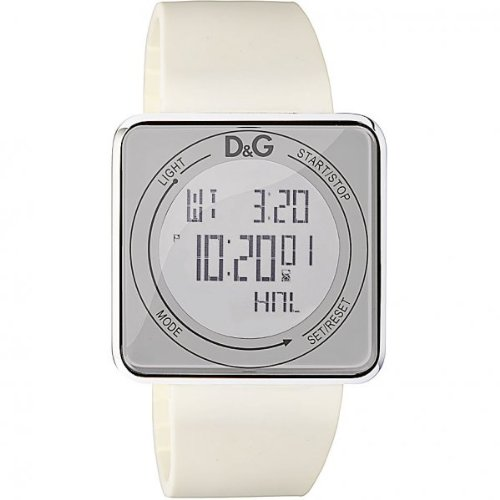 Dolce & Gabbana Unisex Watch Digital Quartz DW0735 with White Silicon Strap White Dial