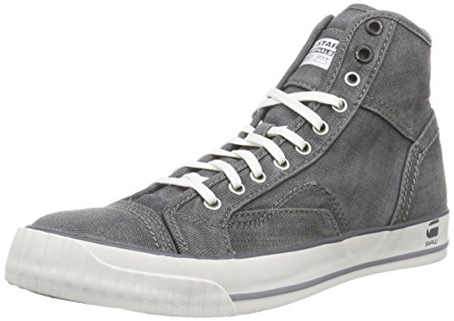 G-Star Raw Falton Washed Hi - Sneakers da uomo, Grigio (plaster), 43