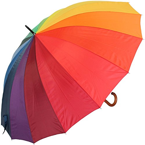 Golfschirm Partnerschirm XXL Stockschirm Regenbogen Rainy Days