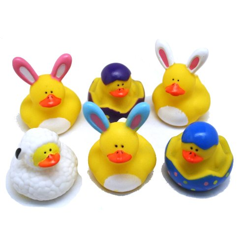 Easter Theme Rubber Duckys (1 dz)