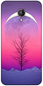 Snoogg Sky View 15 Designer Protective Back Case Cover For Micromax Canvas Spark Q380