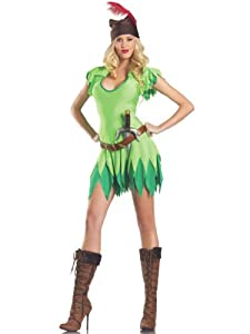 Costume Adventure Women's Sexy Peter Pan Costume -M/L