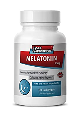 Melatonin sublingual - Melatonin 3mg - Protects against damaged cells (1 Bottle - 90 Lozenges)