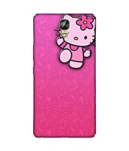 chnno Hello Kitty 3D Printed Back cover for Gionee Marathon M5 Plus