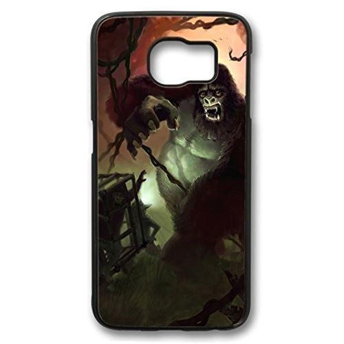 True Rage Illustration Art Custom Durable Plastic Tpu Rubber Cover Case for Samsung Galaxy S6 case - Black (Rage Rubber Wig)