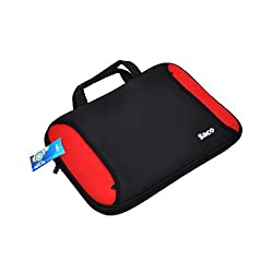 14 inch Laptop Bag- Red and Block Combo Design