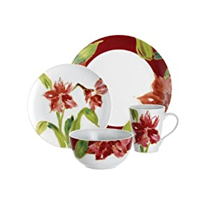 Paula Deen Signature Dinnerware Amaryllis 10-Inch Serving Bowl