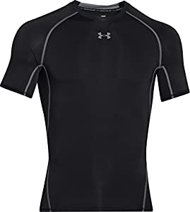 Under Armour Herren Funktionsshirt Heat Gear Compression, schwarz/grau, M, 1257468-001-MD