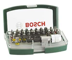 Bosch 32-teiliges Schrauberbit-Set mit Farbcodierung, 2607017063