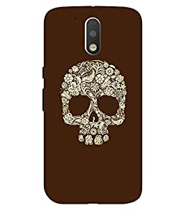 Chiraiyaa Designer Printed Premium Back Cover Case for Moto G4 Plus (skull skeleton) (Multicolor)