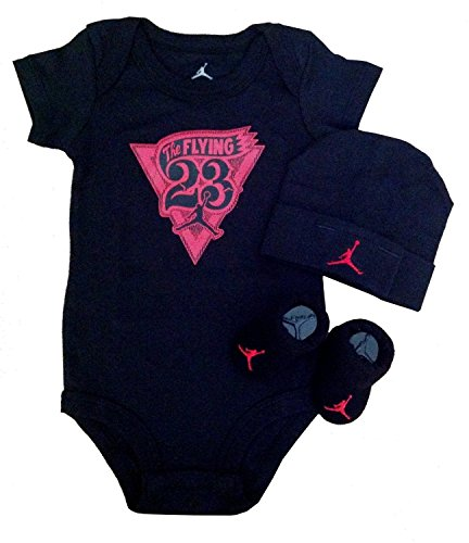 Stylish Jordan 3 piece set Bodysuit 0-6 Months+free 3.5mm for Cellphone/ Mp3/ Ipad