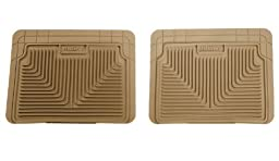Husky Liners 52023 Semi-Custom Fit Heavy Duty Rubber Rear Floor Mat - Pack of 2, Tan