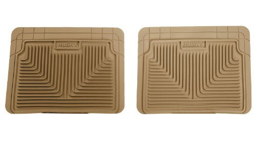 Husky Heavy Duty Floor Mats, 2pc 2nd Seat Mats, Color: Tan 52023 (1971 Camaro Seats compare prices)