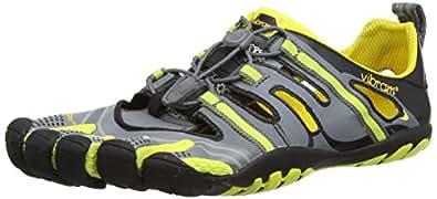 Vibram Fivefingers Mens Treksport Sandal Hiking Shoes 13M4301 Grey/Yellow/Black 7 UK, 41 EU