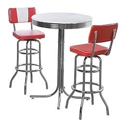 Product Image 3pc Retro Pub Set - Red