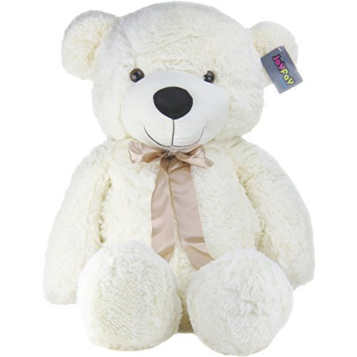 Big-39-Smiling-White-Stuffed-Plush-Teddy-Bear-Toy-from-Joyfay