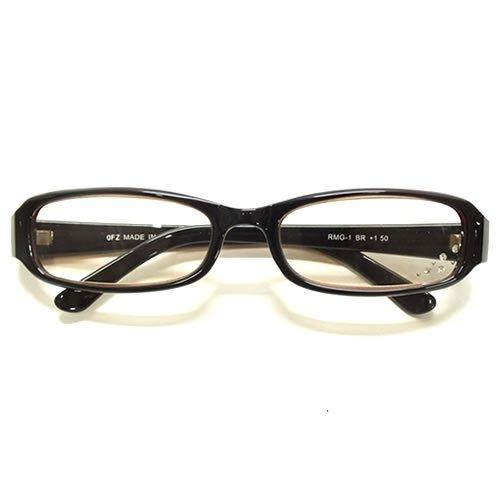 A:PCメガネ メラニンPC老眼鏡 【リーディンググラスケース付き】 ((度数)+1.50, ブラウン)