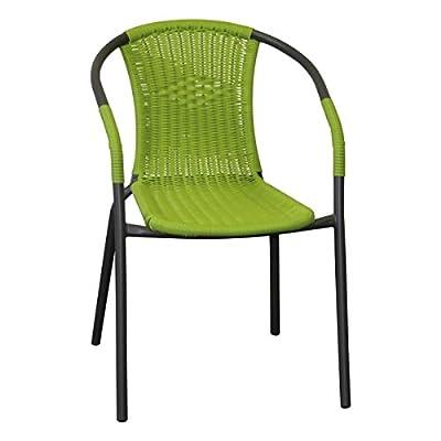 """Bistrostuhl Stapelstuhl Gartenstuhl """"Malaga"""" Stahl beschichtet stapelbar von Profiline - Gartenmöbel von Du und Dein Garten"""